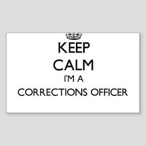 Keep calm I'm a Corrections Officer Sticker