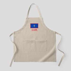 Guam Flag Artistic Red Design Light Apron