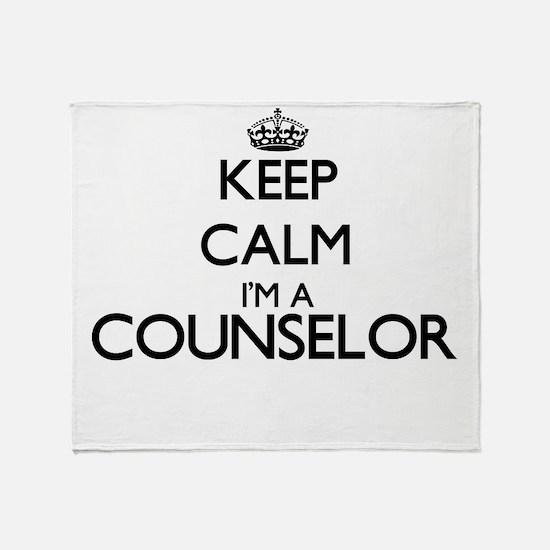 Keep calm I'm a Counselor Throw Blanket