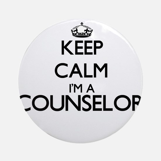 Keep calm I'm a Counselor Ornament (Round)
