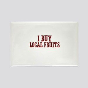 I buy local fruits Rectangle Magnet
