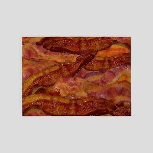 Bacon! Bacon! Bacon! 5'x7'Area Rug