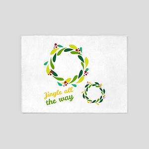 Jingle all the way 5'x7'Area Rug