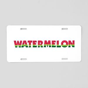 Watermelon Aluminum License Plate