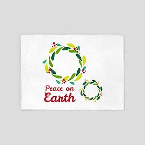 Peace On Earth 5'x7'Area Rug