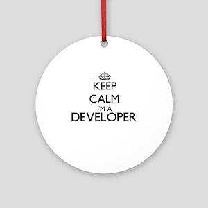 Keep calm I'm a Developer Ornament (Round)