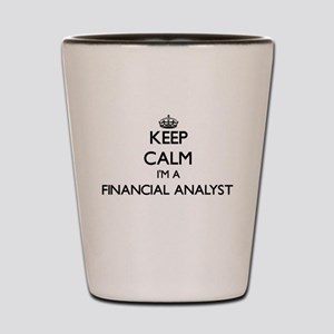 Keep calm I'm a Financial Analyst Shot Glass