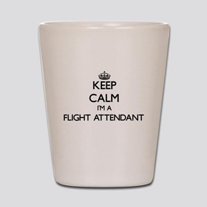 Keep calm I'm a Flight Attendant Shot Glass