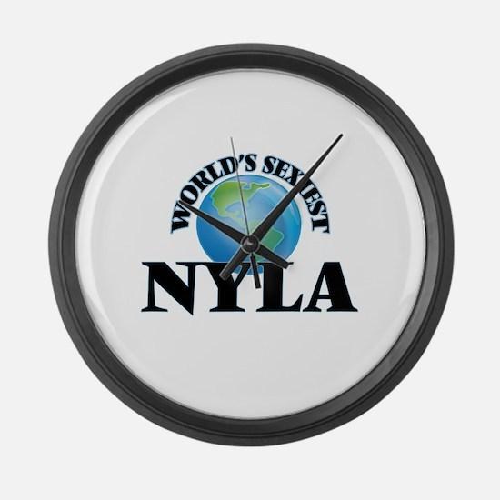 World's Sexiest Nyla Large Wall Clock