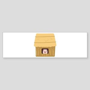 Straw House Pig Bumper Sticker