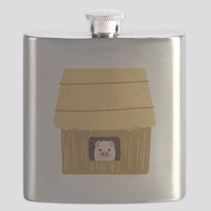 Straw House Pig Flask