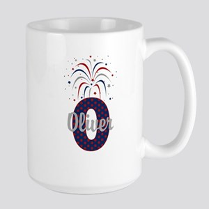 4th of July Fireworks letter O Mugs