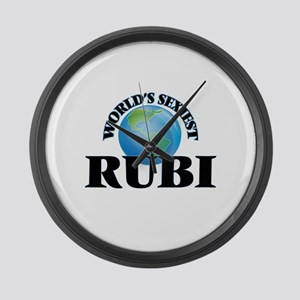 World's Sexiest Rubi Large Wall Clock