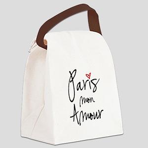 Paris mon amour Canvas Lunch Bag