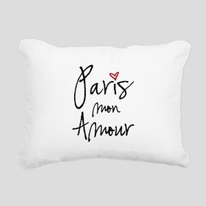 Paris mon amour Rectangular Canvas Pillow