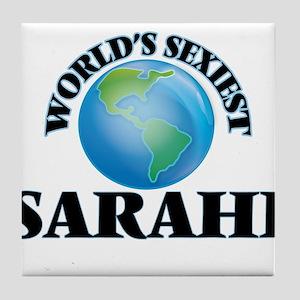 World's Sexiest Sarahi Tile Coaster