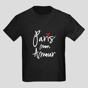 Paris mon amour white text T-Shirt