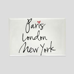 Paris, London, New York Magnets