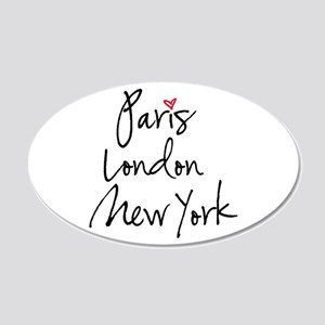Paris, London, New York Wall Decal