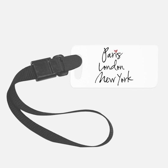 Paris, London, New York Luggage Tag