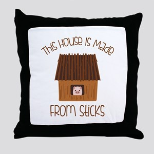 Made From Sticks Throw Pillow