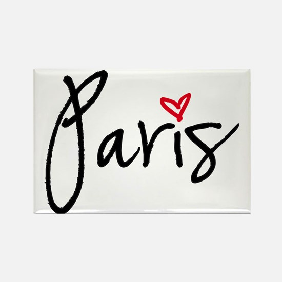 Paris with red heart Magnets