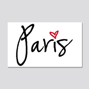 Paris with red heart Wall Decal