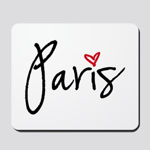 Paris with red heart Mousepad