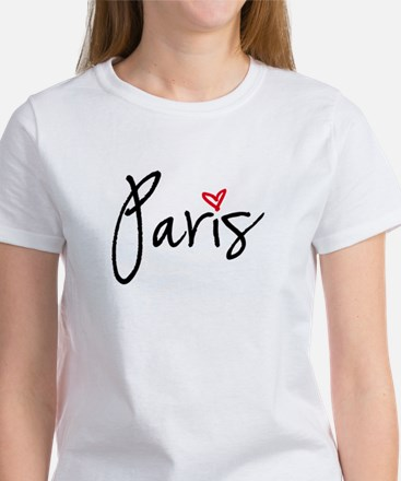 Paris with red heart T-Shirt