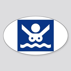 Nudist Beach (2), Norway Sticker (Oval)