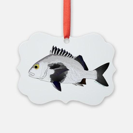 Black Margate fish Ornament