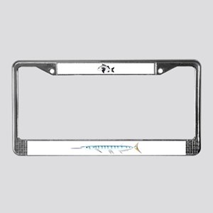 Black Margate fish License Plate Frame