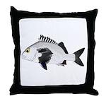 Black Margate fish Throw Pillow