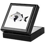 Black Margate fish Keepsake Box