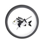 Black Margate fish Wall Clock