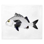Black Margate fish King Duvet