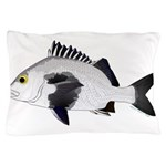 Black Margate fish Pillow Case