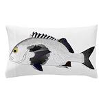 Black Margate fish Pillow Case