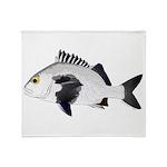 Black Margate fish Throw Blanket
