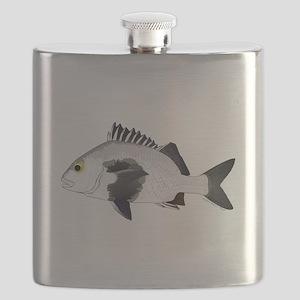 Black Margate fish Flask