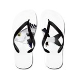 Black Margate fish Flip Flops