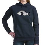 Black Margate fish Women's Hooded Sweatshirt