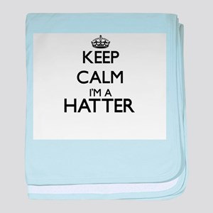 Keep calm I'm a Hatter baby blanket