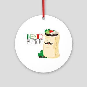 Neato Burrito Ornament (Round)