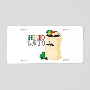 Neato Burrito Aluminum License Plate