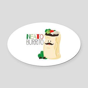 Neato Burrito Oval Car Magnet