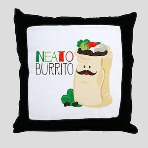 Neato Burrito Throw Pillow