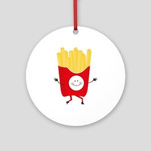 Happy Fries Ornament (Round)