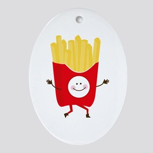 Happy Fries Ornament (Oval)