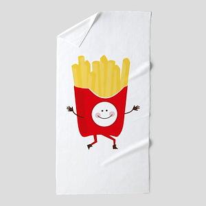 Happy Fries Beach Towel